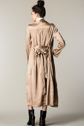 Koko Satin Trench - House of W