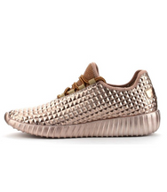 Faux Feezy Rose Gold Trainers - House of W
