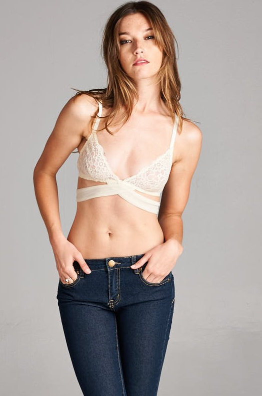Cream Bralette - House of W