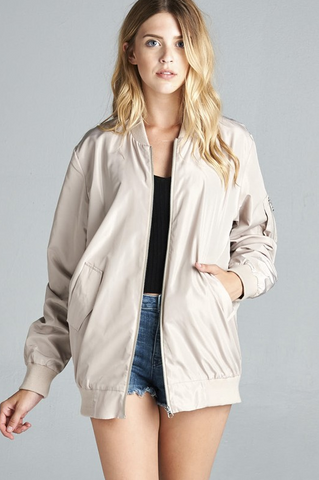 Fawn Bomber Jacket