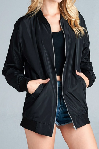 Onyx Bomber Jacket - House of W