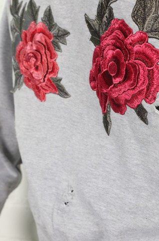 Rose Embroidered Sweatshirt - House of W