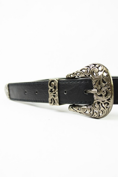 Black Double Buckle Belt - House of W