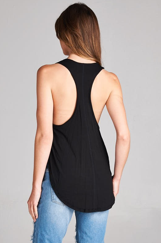 Black Basic Tank - House of W