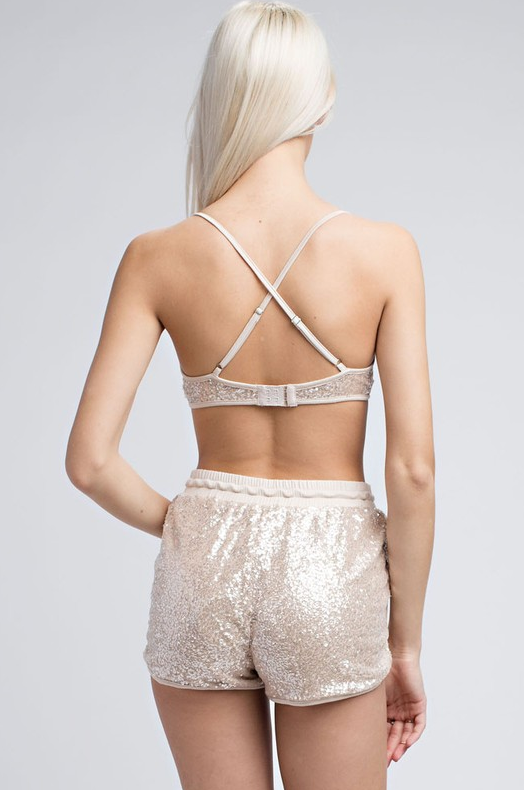 Shimmer Sequin Bralette - House of W