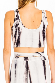 Smokey Tie Dye Wrap Crop - House of W