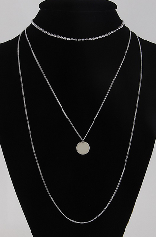 Santorini Necklace Set - Silver