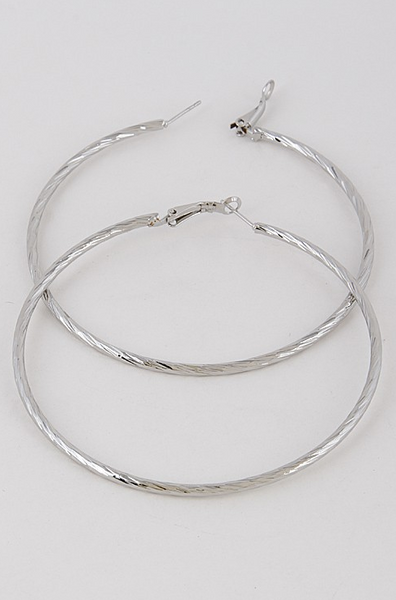 RiRi Hoop Earring - Silver - House of W