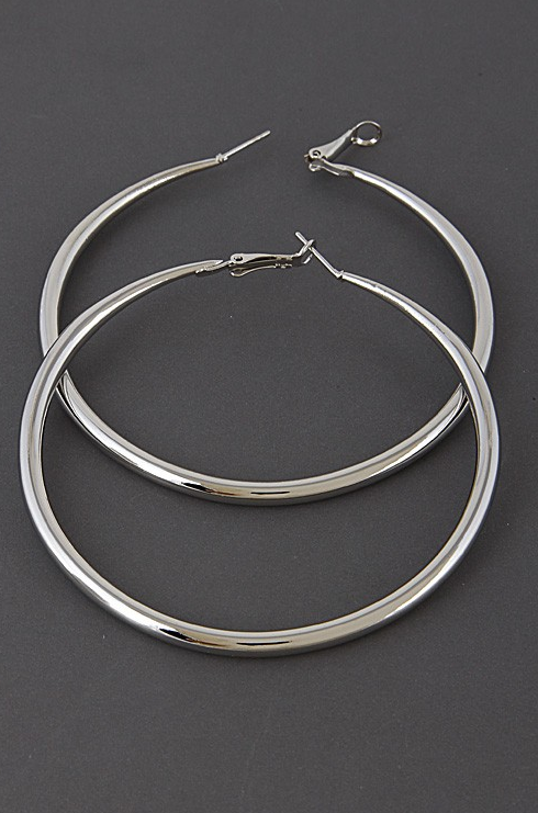 Gina Hoop Earring - Silver - House of W