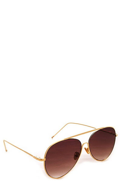 Muse Gold Sunglasses - Brown Fade Lenses - House of W