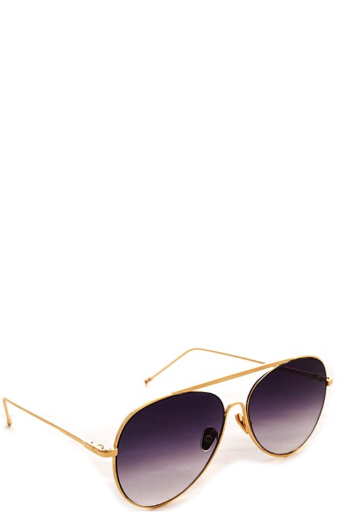 Muse Gold Sunglasses - Purple Fade Lenses - House of W