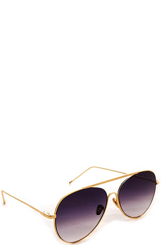 Muse Gold Sunglasses - Purple Fade Lenses
