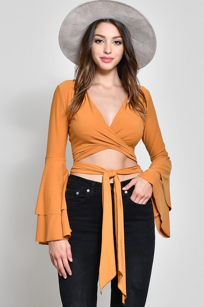 That's A Wrap Top - Marigold - House of W