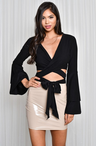 That's A Wrap Top - Black - House of W
