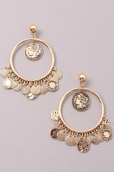 Athens Earrings - Gold - House of W