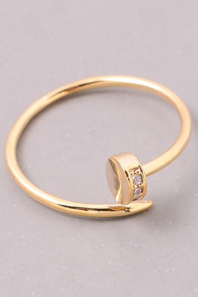 Nail Ring - Gold - House of W