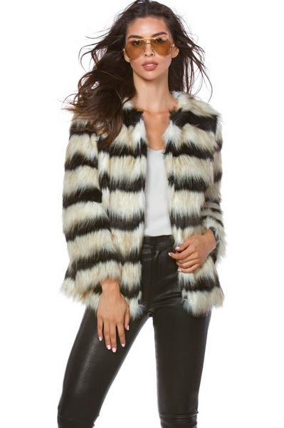 Aspen Faux Fur Coat - House of W
