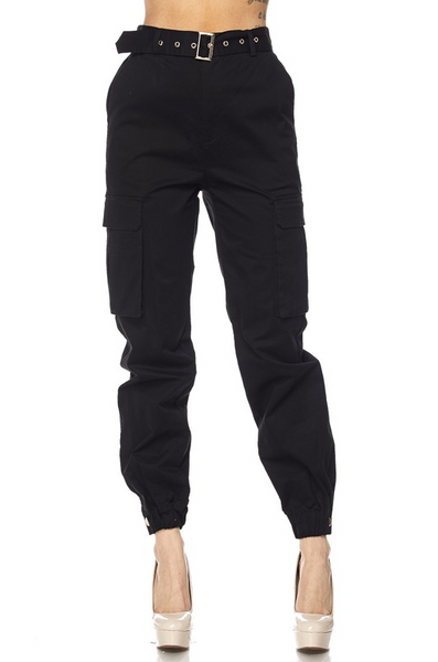 Cali Cargo Pants - Black - House of W