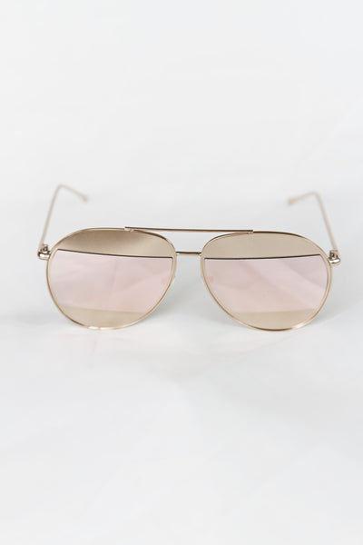 Avant Split Rose Gold Aviator - House of W