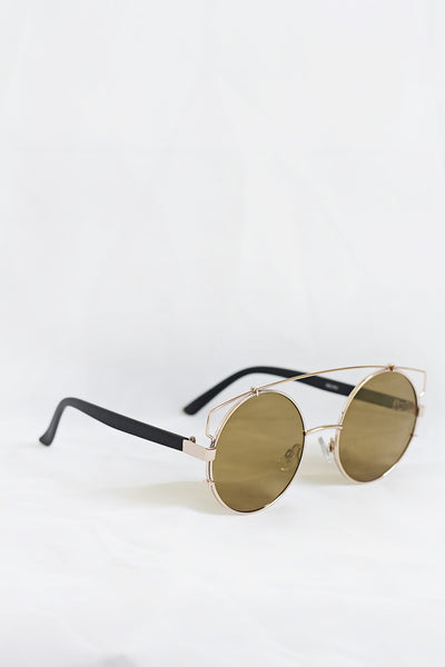 Boho Gold Sunglasses - Hazel Lenses - House of W