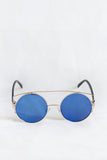 Boho Gold Sunglasses - Blue Lenses - House of W