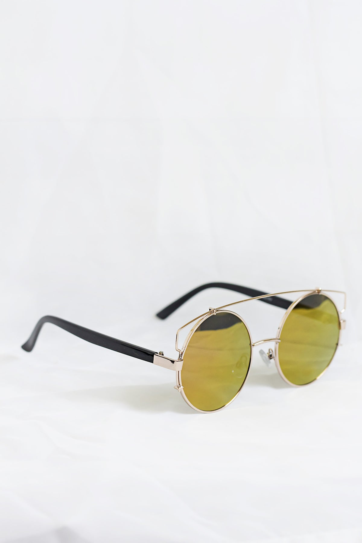 Boho Gold Sunglasses - Pink Lenses - House of W
