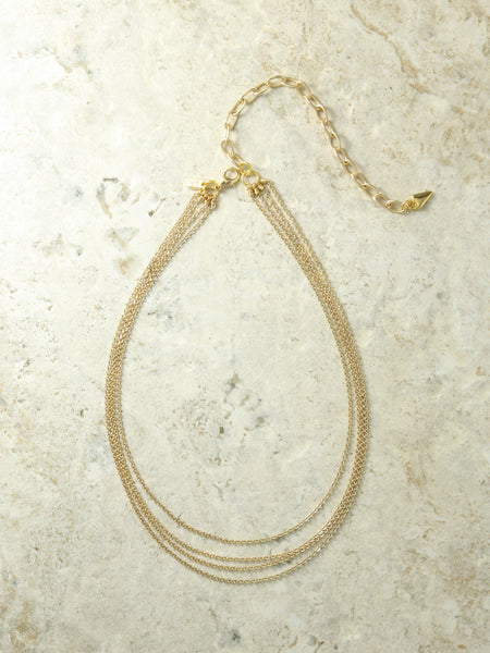 The Carmela Layered Necklace Gold - House of W