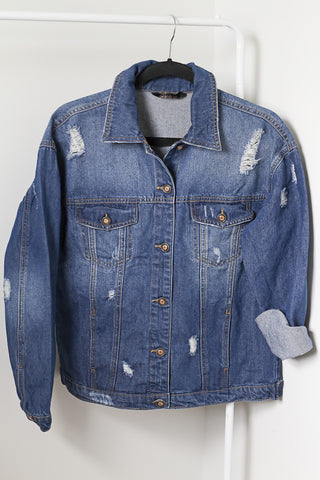 Distressed Denim Jacket - House of W