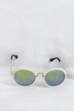 Fancy White Sunglasses - Blue Lenses - House of W