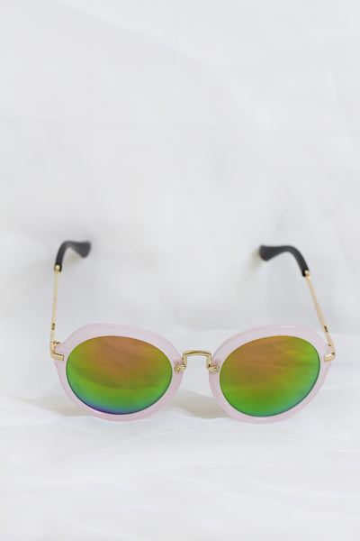 Fancy Pink Sunglasses - Green Lenses - House of W
