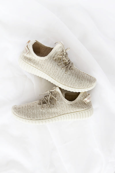 Faux Feezy Neutral Trainers - House of W