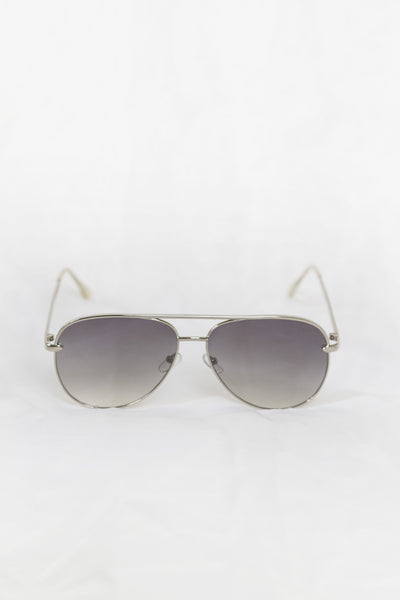 Foxy Silver Sunglasses - Fade Lenses - House of W
