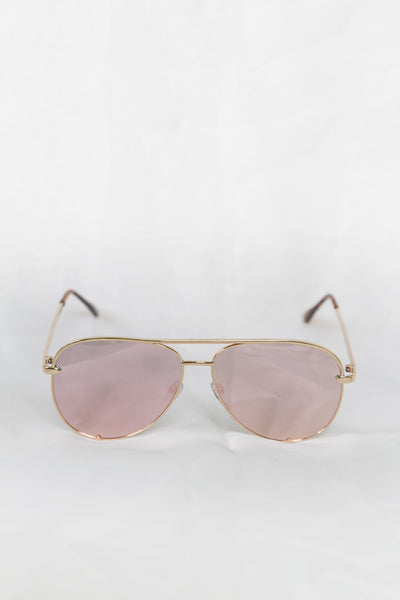 Foxy Gold Sunglasses - Pink Lenses - House of W