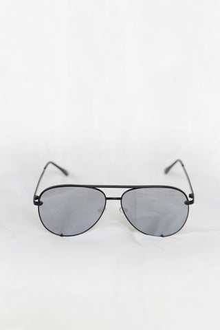 Foxy Black Sunglasses - Silver Lenses