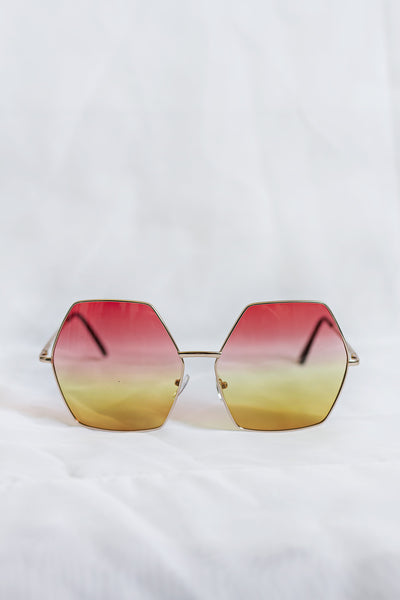 Free Spirit Pink/Yellow Sunglasses - House of W
