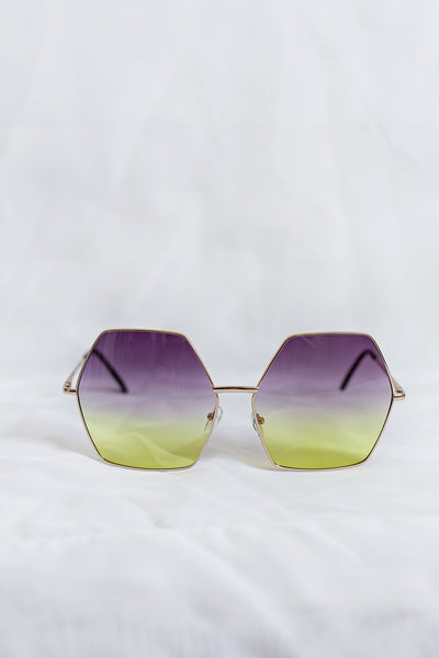 Free Spirit Purple/Green Sunglasses - House of W