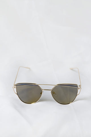 Glamour Gold Sunglasses - House of W