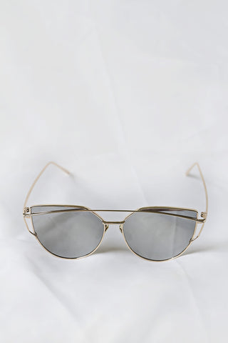 Glamour Gold Sunglasses - Silver Lenses - House of W - 1