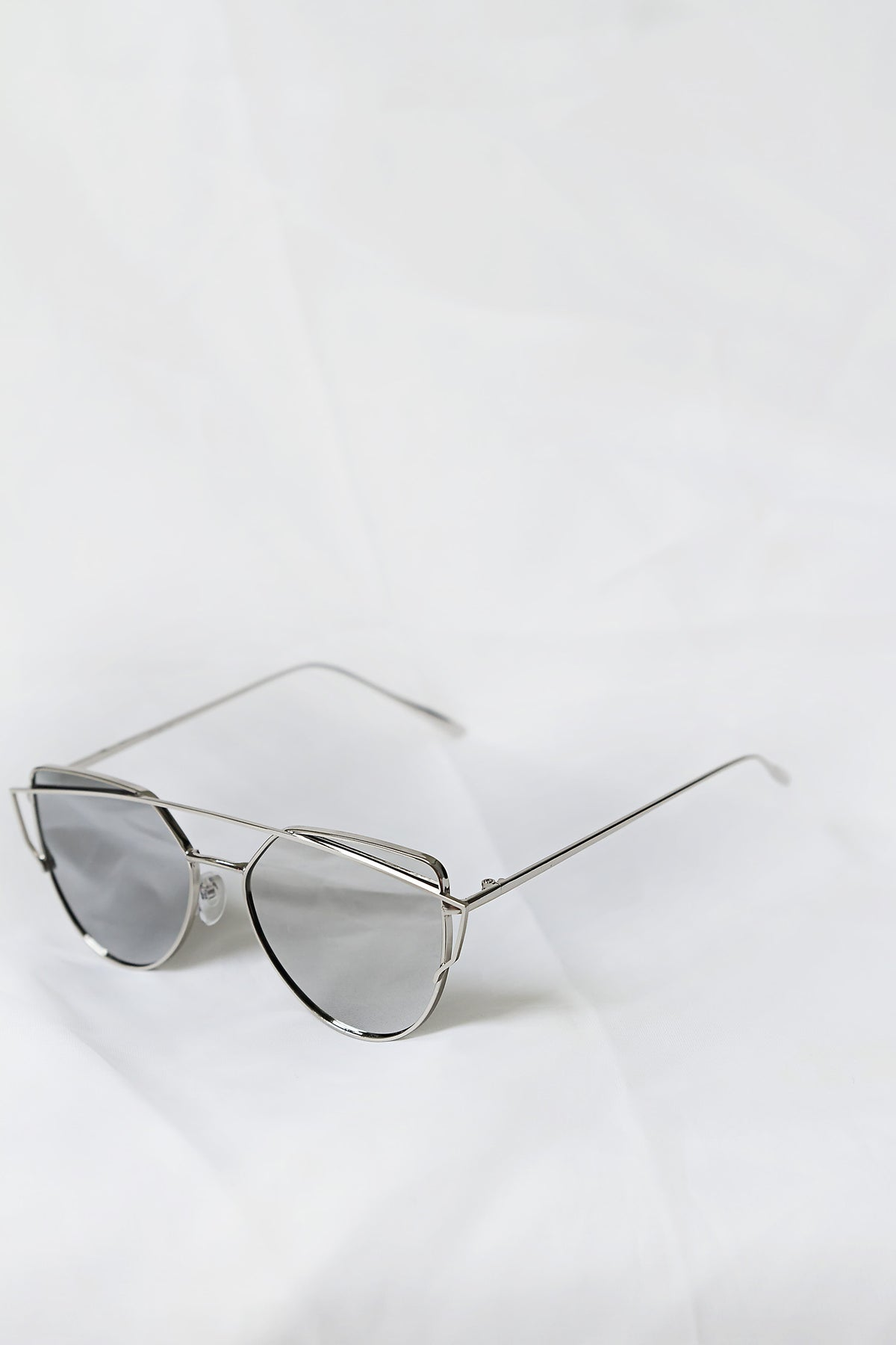 Glamour Silver Sunglasses - House of W