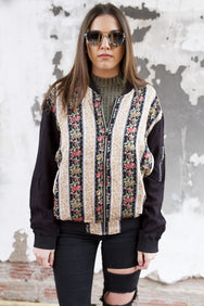 Floral Bomber Jacket - House of W
