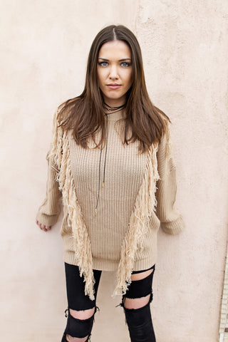 Cozy Fringe Sweater