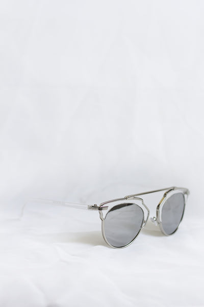 Icon Clear Sunglasses - Silver Lenses - House of W