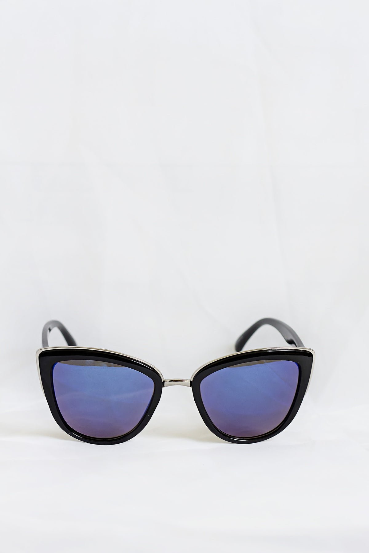 Idol Black Sunglasses - Blue Lenses - House of W