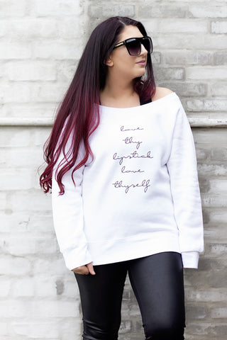 Love Thy Lipstick Sweatshirt - House of W