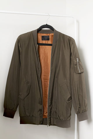 Olive That Bomber Jacket - House of W - 1