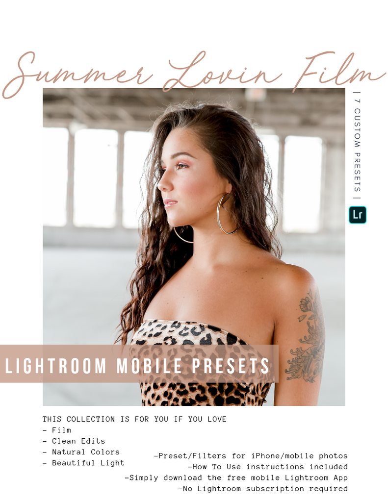 Summer Lovin Film Lightroom Mobile Presets - House of W