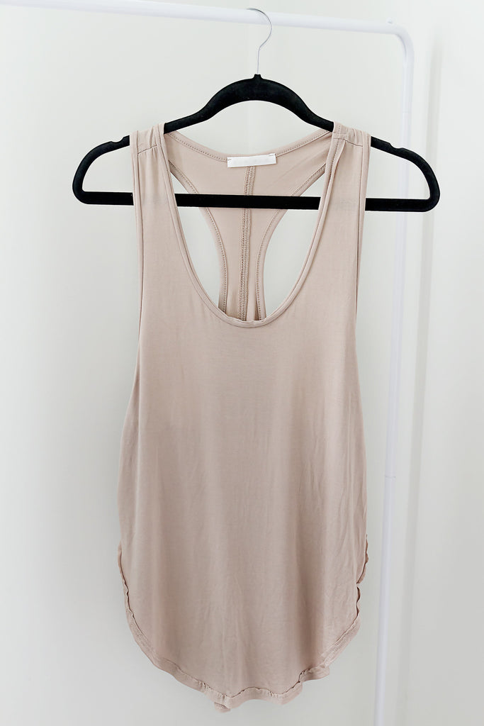 Taupe Basic Tank - House of W