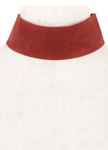 Thick Suede Burgundy Choker - House of W