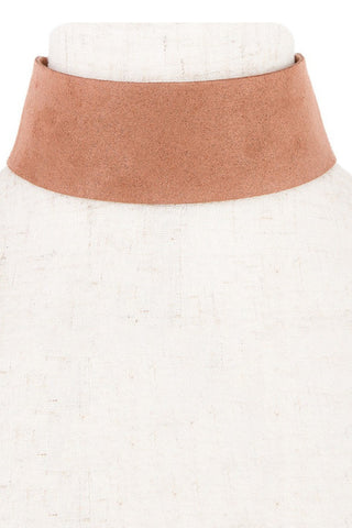 Thick Suede Camel Choker - House of W