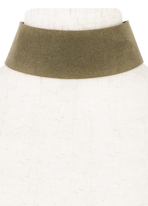 Thick Suede Olive Choker - House of W